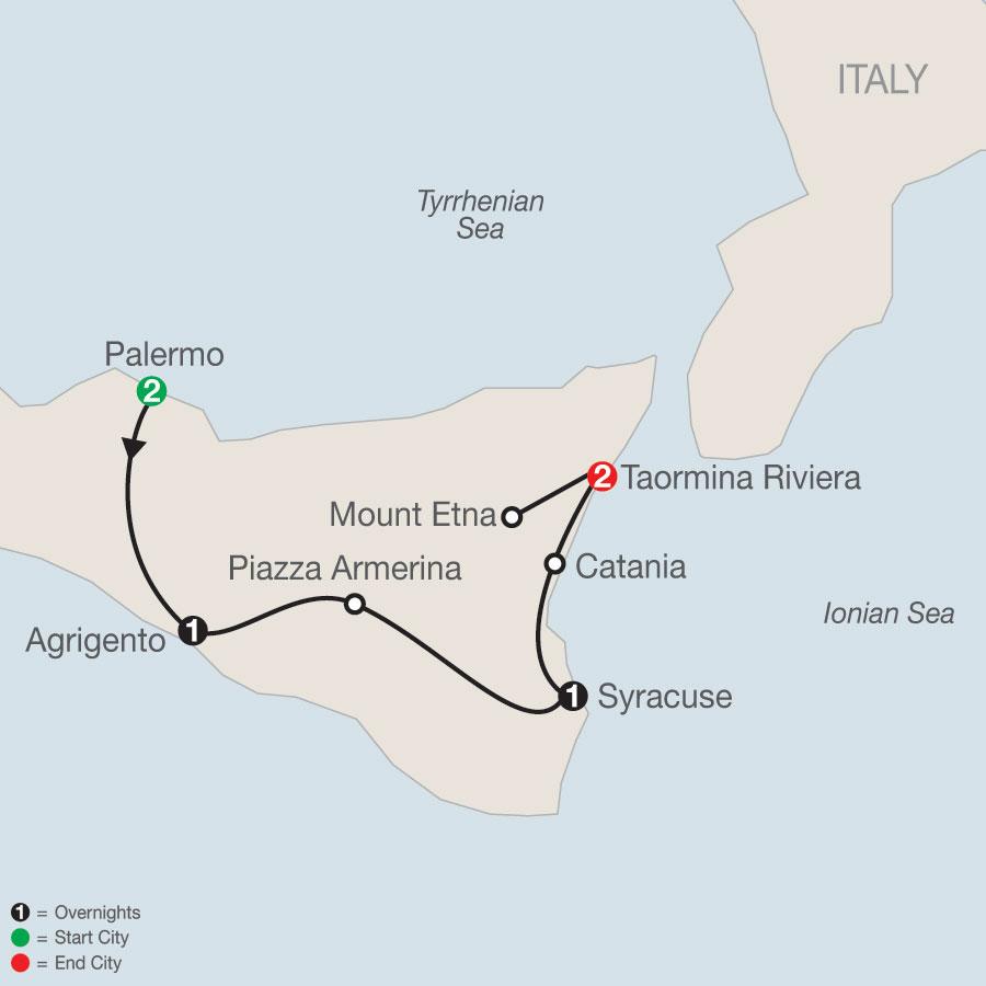 Sicilian Escape map