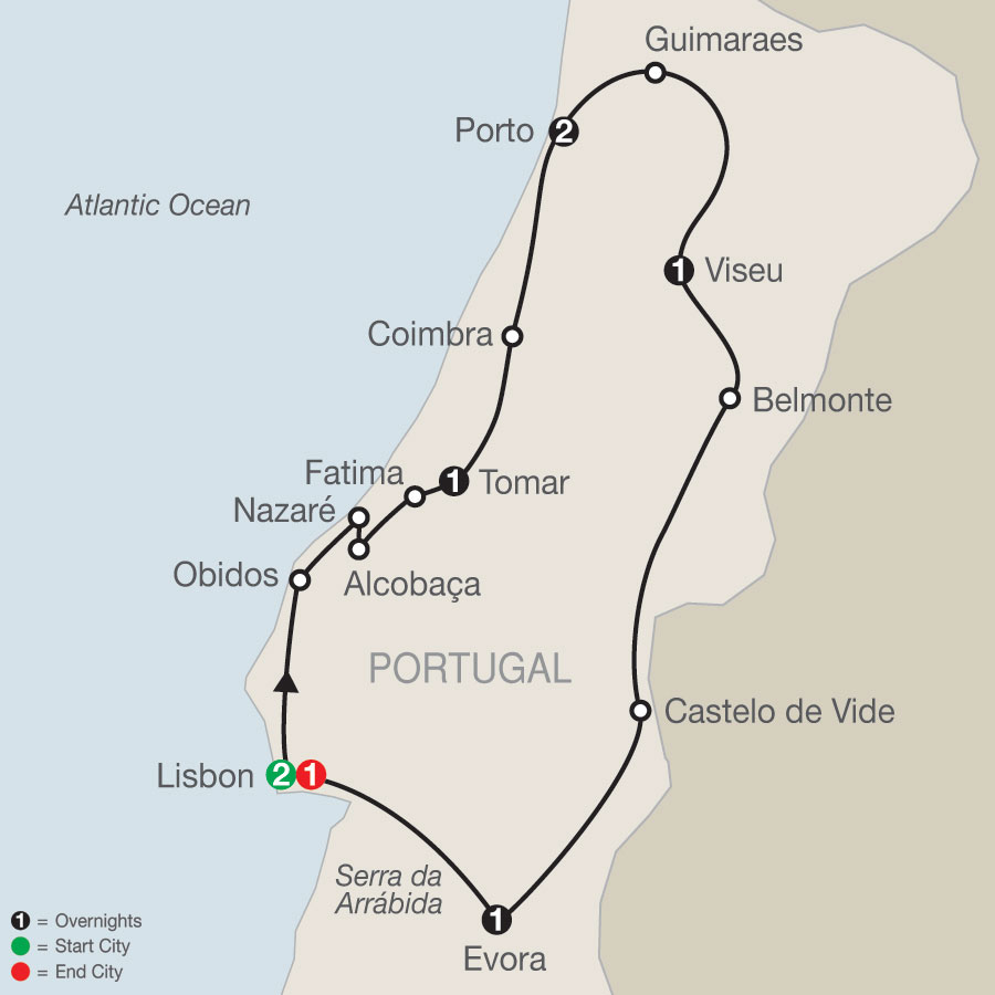 Portuguese Escape map