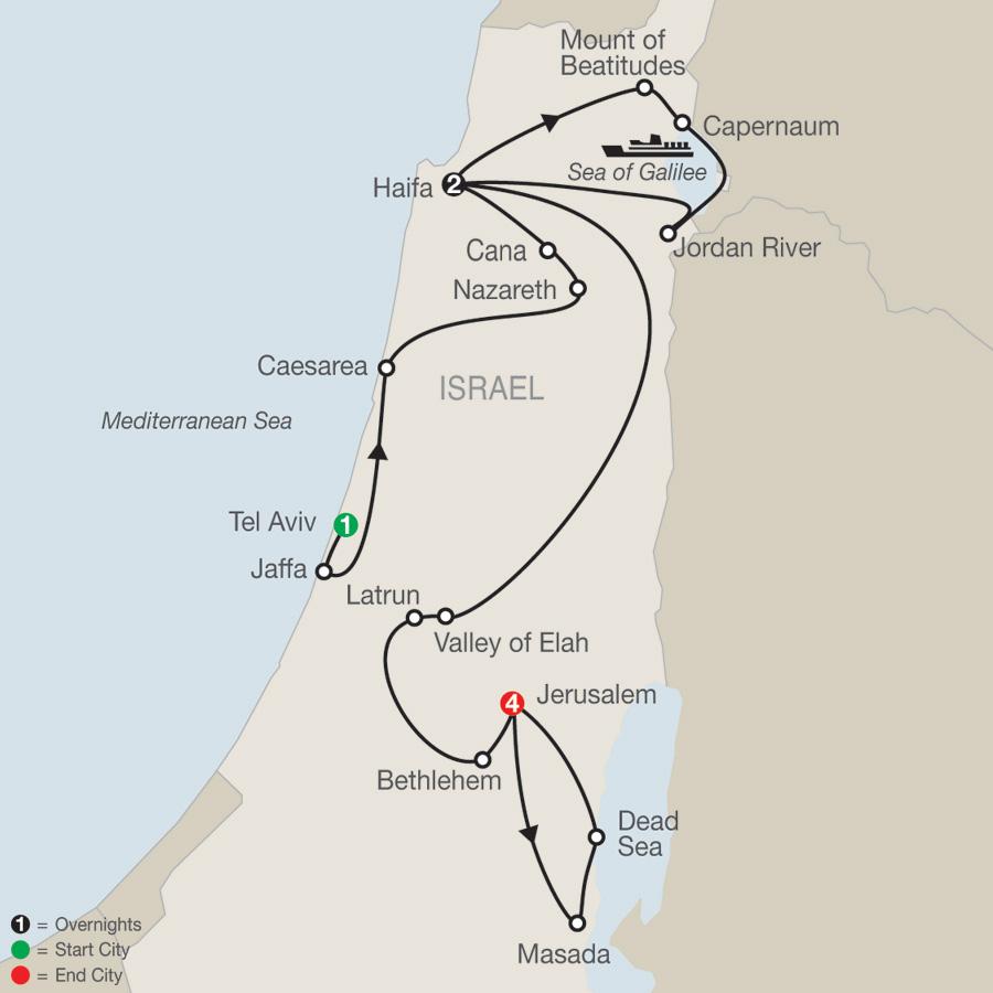Israel Escape map