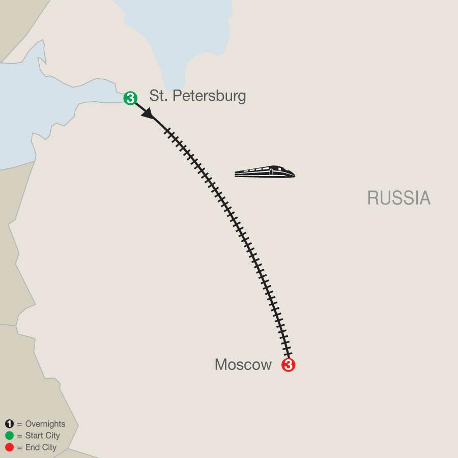 Russian Escape map