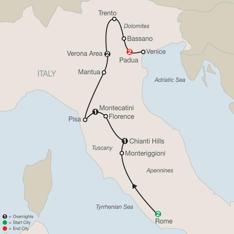 Italian Sampler map