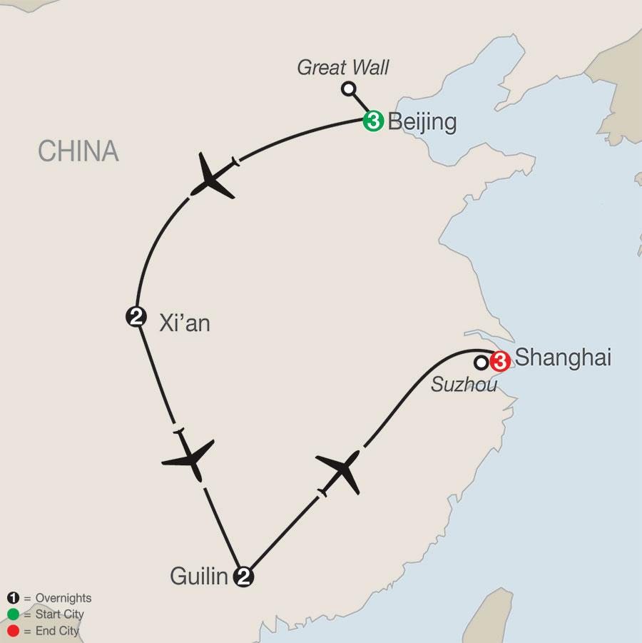 Treasures of China map