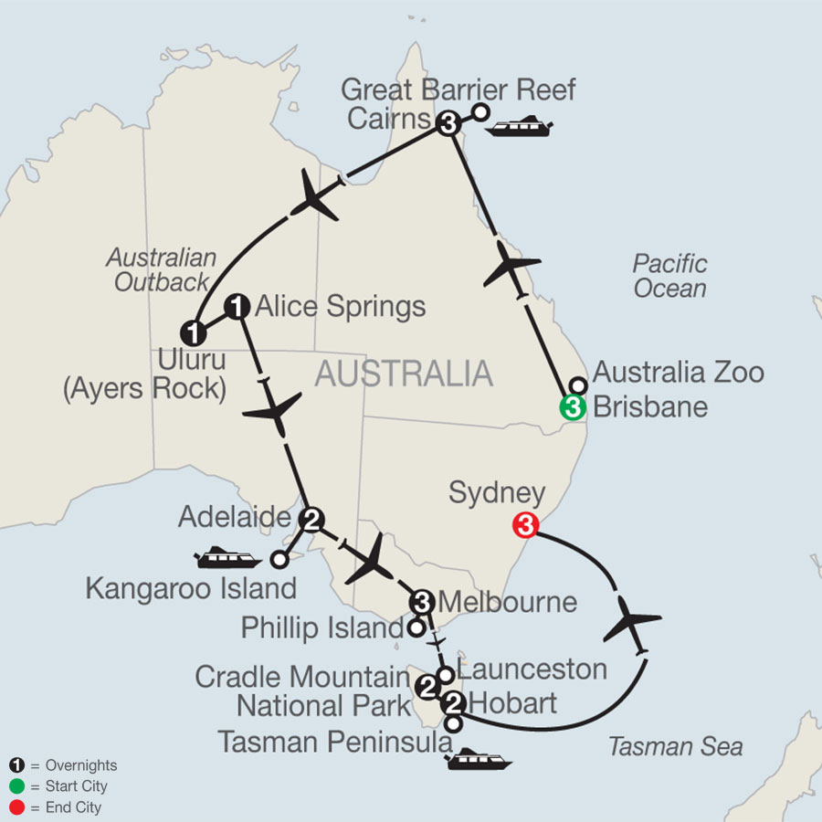 Australian Safari map