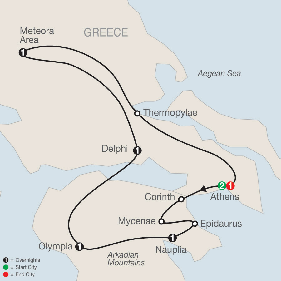 Classical Greece map
