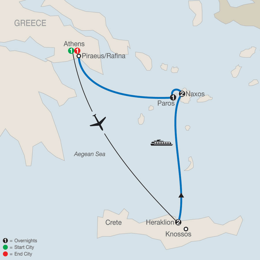 Greek Island Adventure map