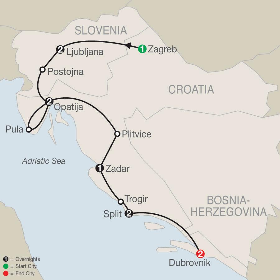 The Croatian map