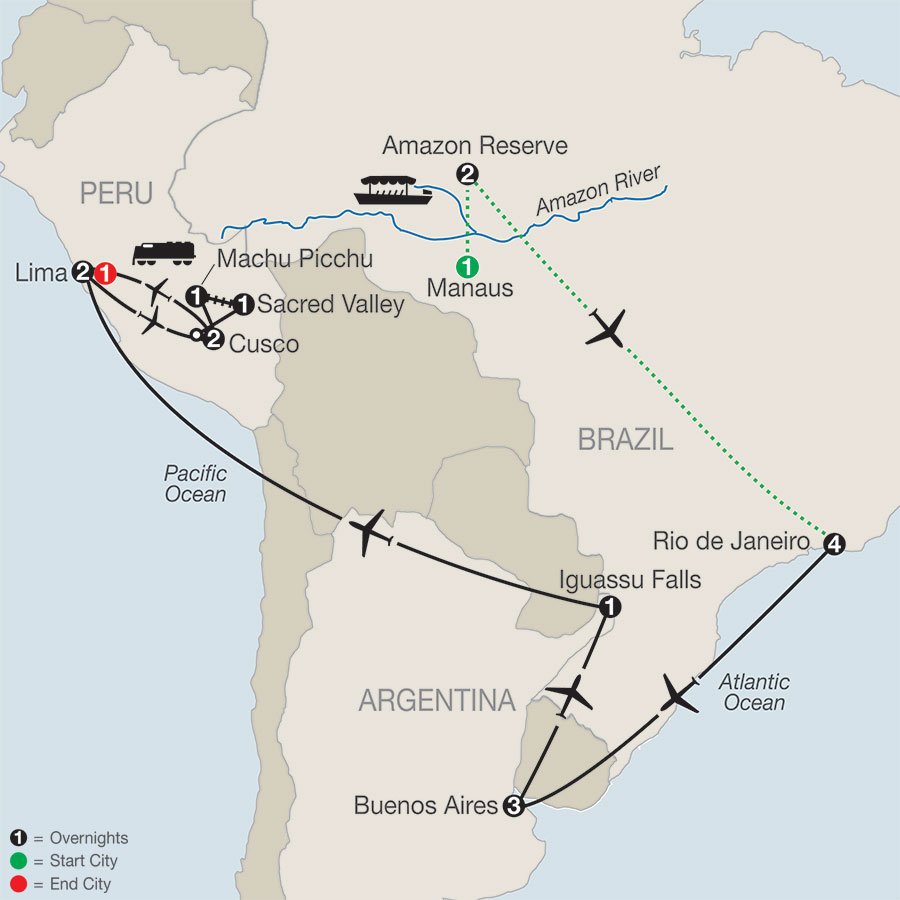 Spirit of South America with Amazon