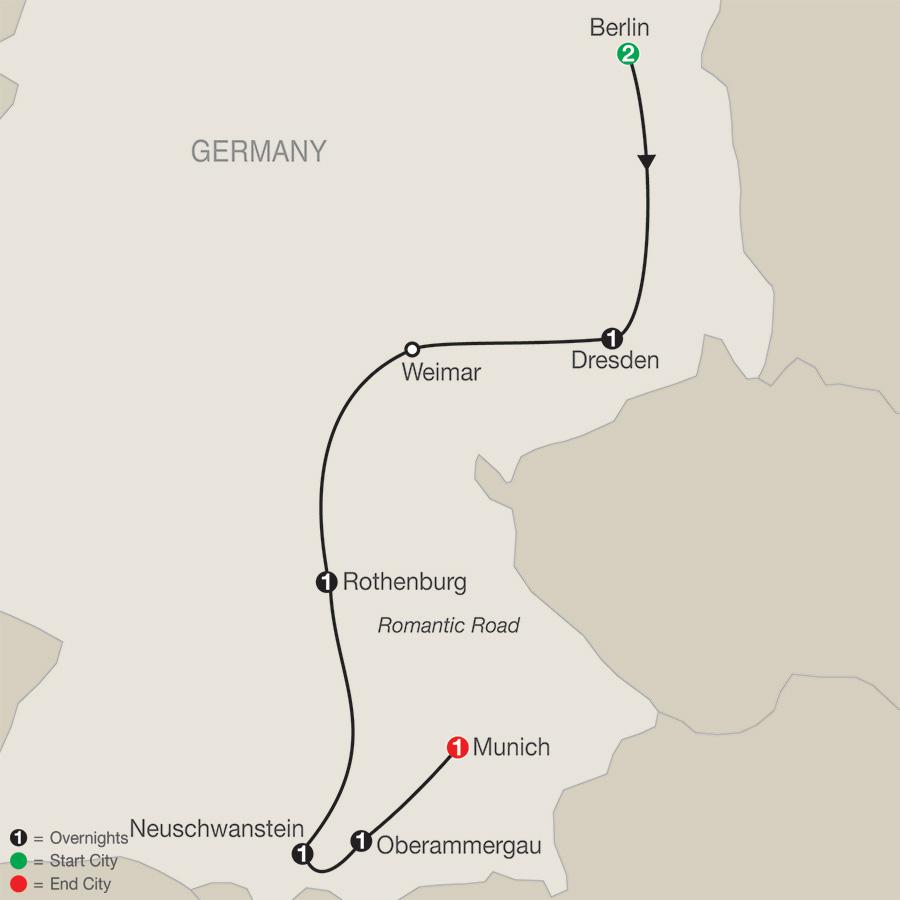 German Vista with Oberammergau map