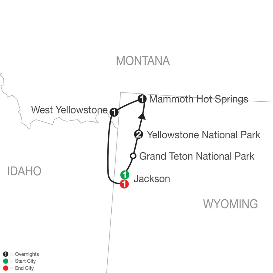Yellowstone Winter Wonderland map