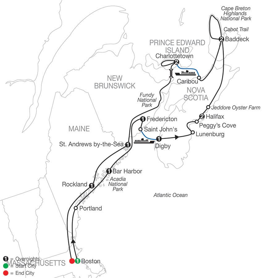 Maritimes Adventure map