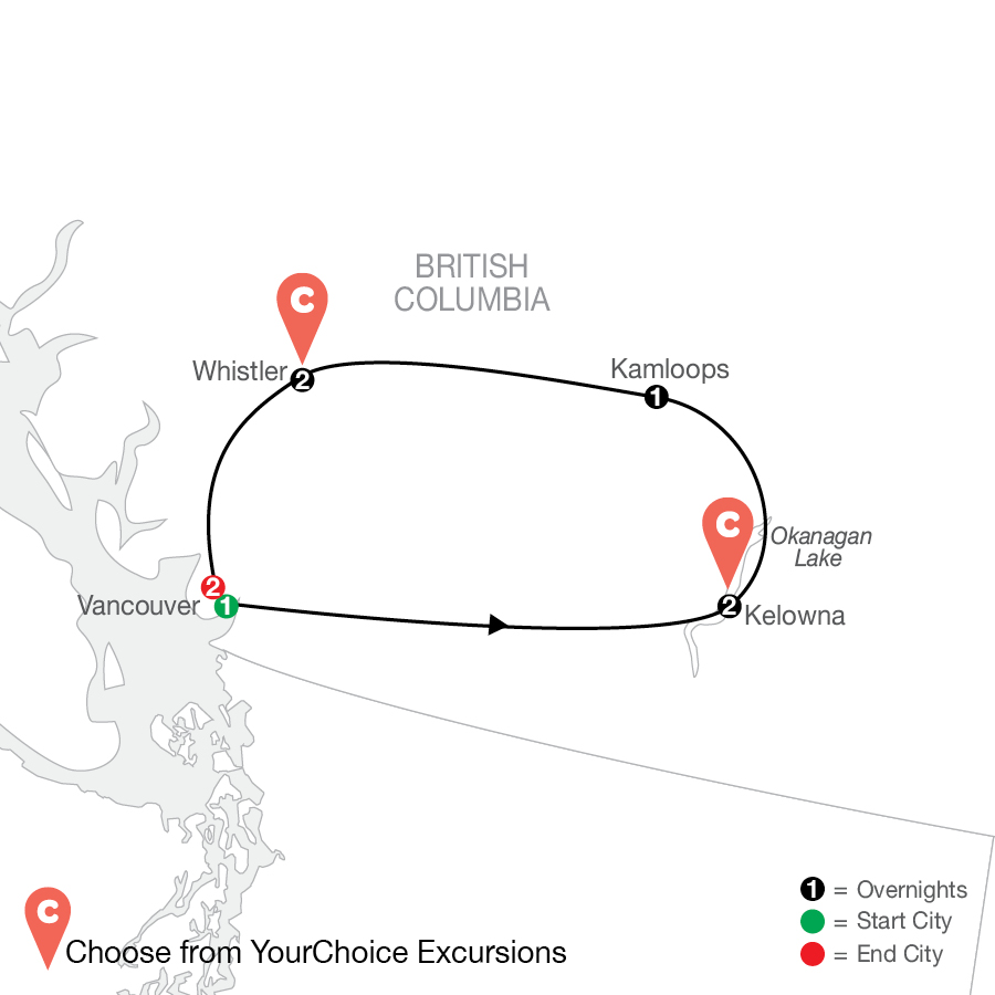 From the Top: Western Canada By Design with MORE Vancouver map