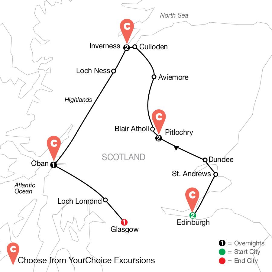 Hot Tam!: Scotland By Design map
