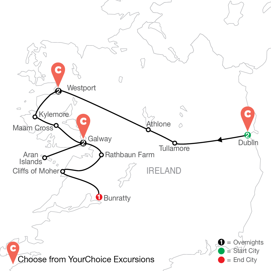 Green with Envy: Ireland By Design map