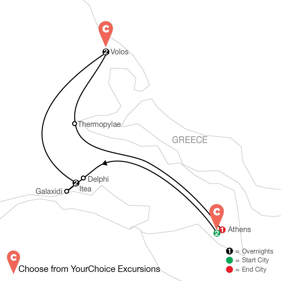 Oh My Goddess!: Greece By Design map