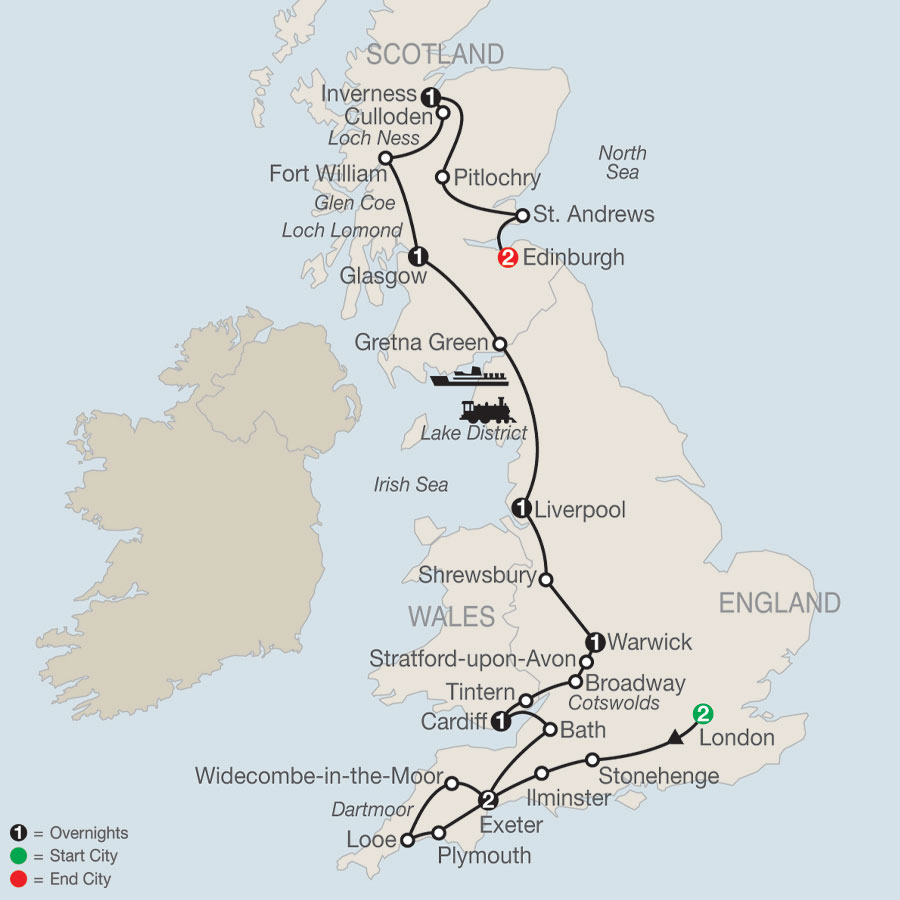 Britain Uncovered map