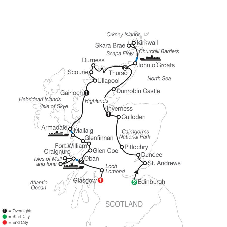 Scottish Highland Fling map