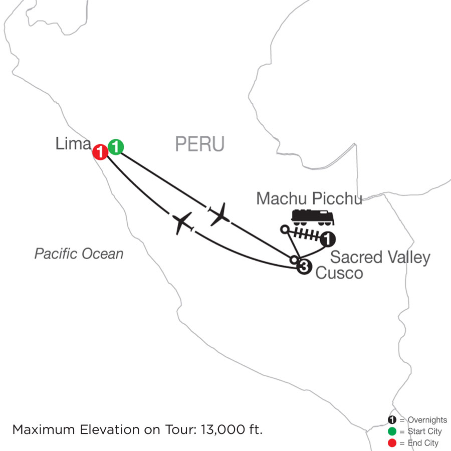 Peru Escape map