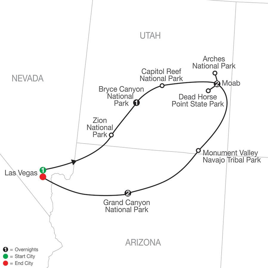 America's Canyonlands Escape map