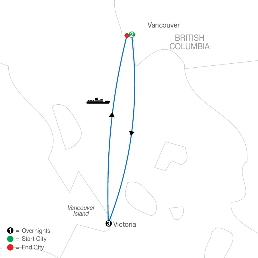 West Coast Escape map