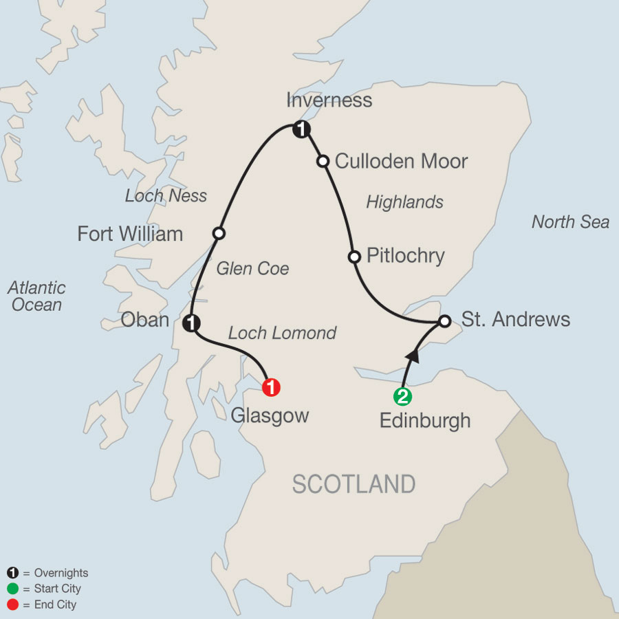 Scottish Highlands Escape map