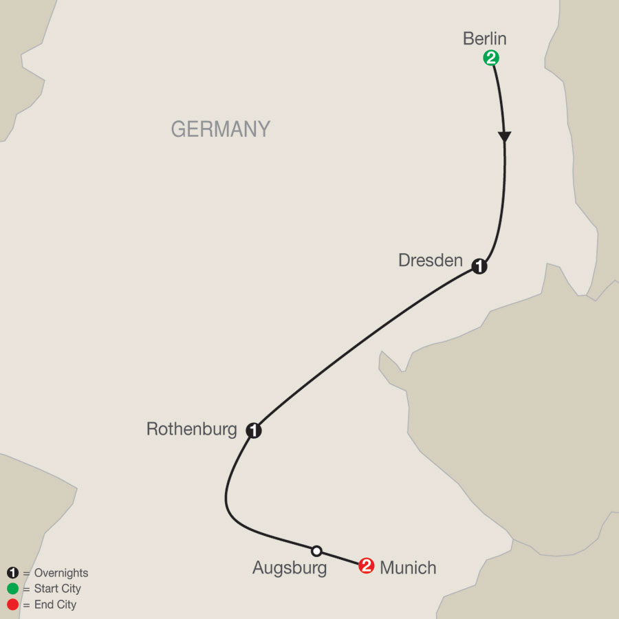 German Escape map