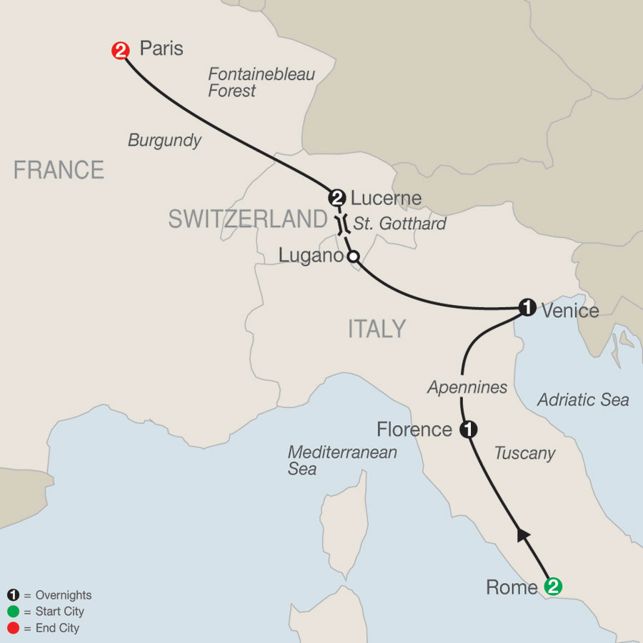 European Escape map
