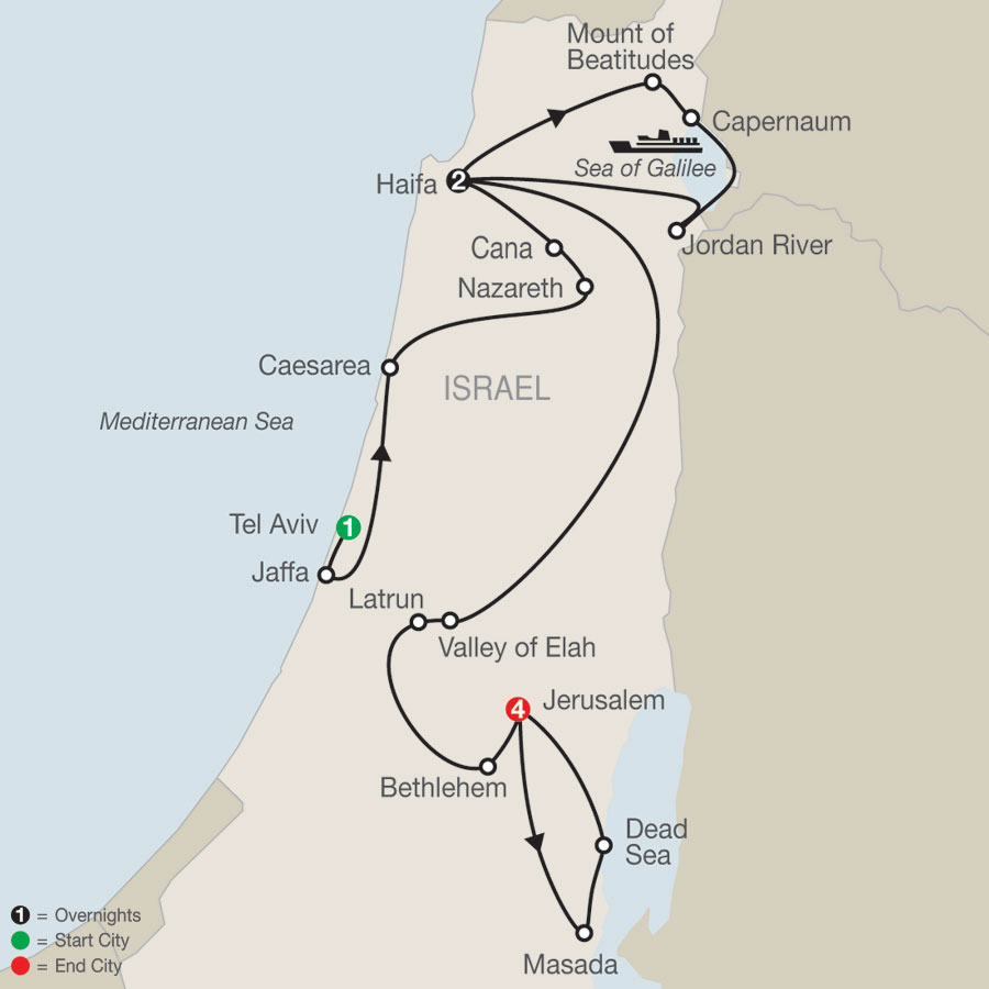Israel Escape map