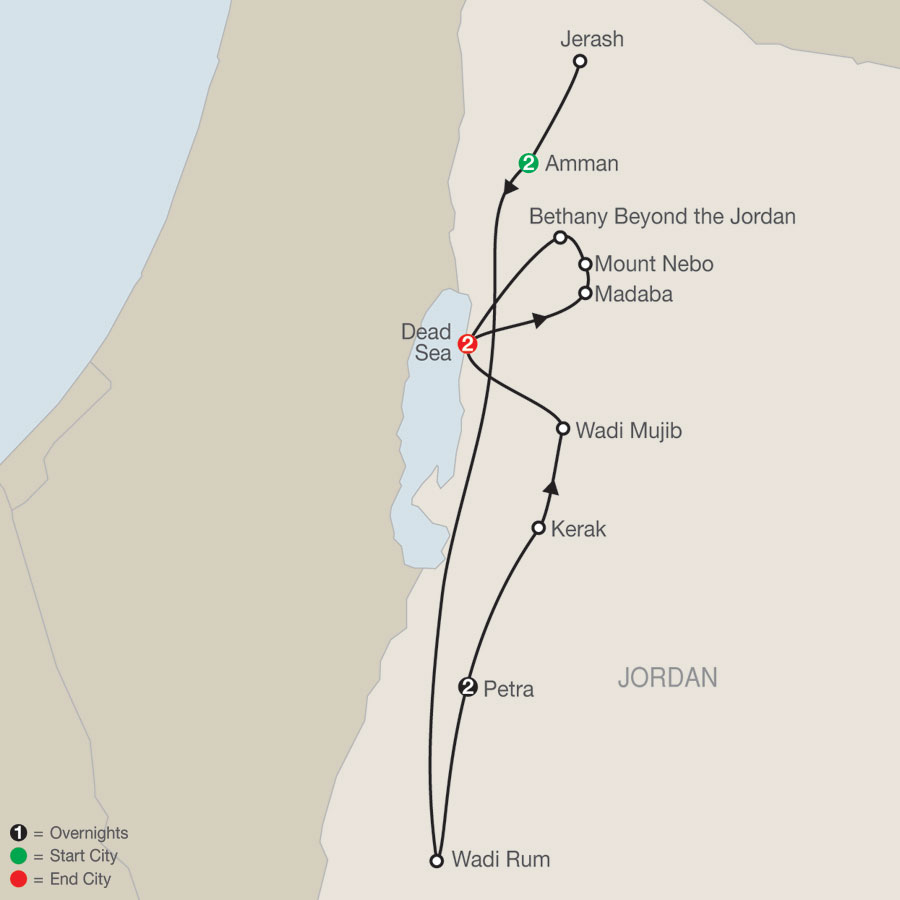 Jordan Escape map