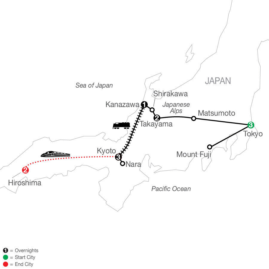 Discover Japan with Hiroshima map