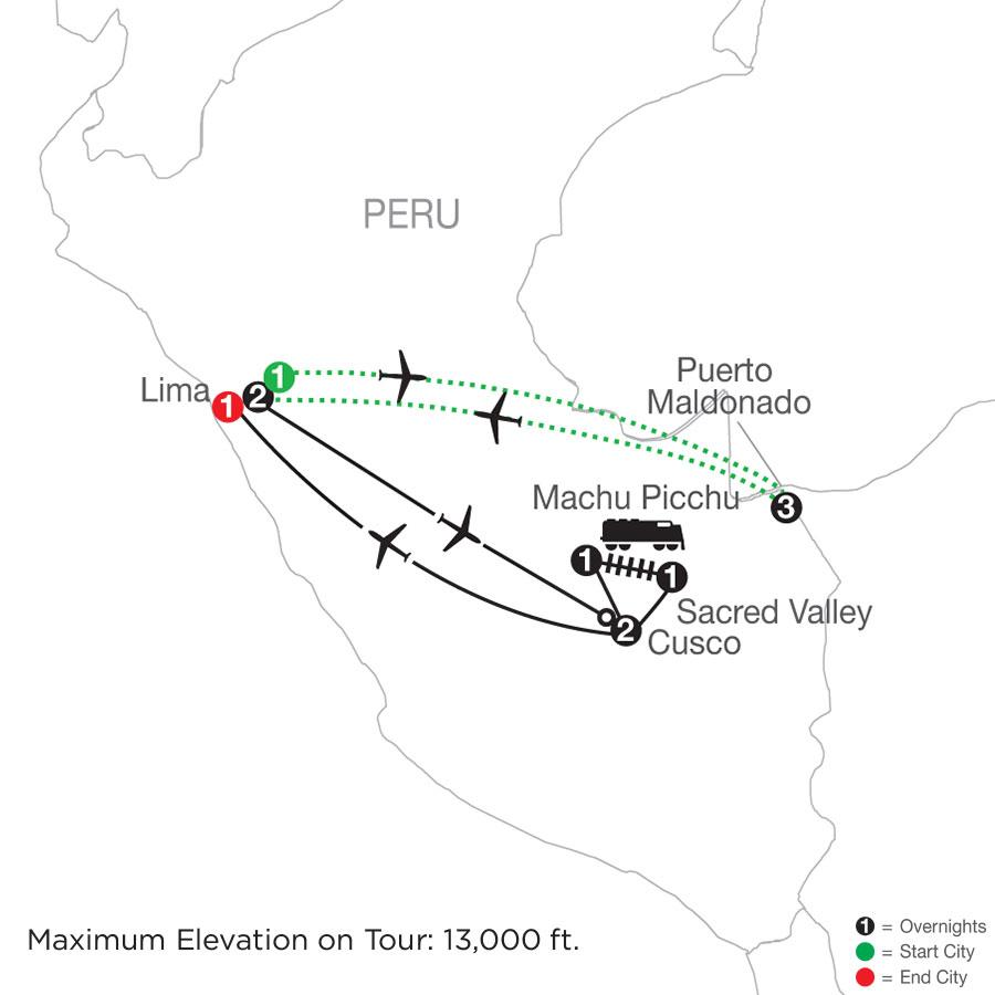 Peru Splendors with Peru's Amazon