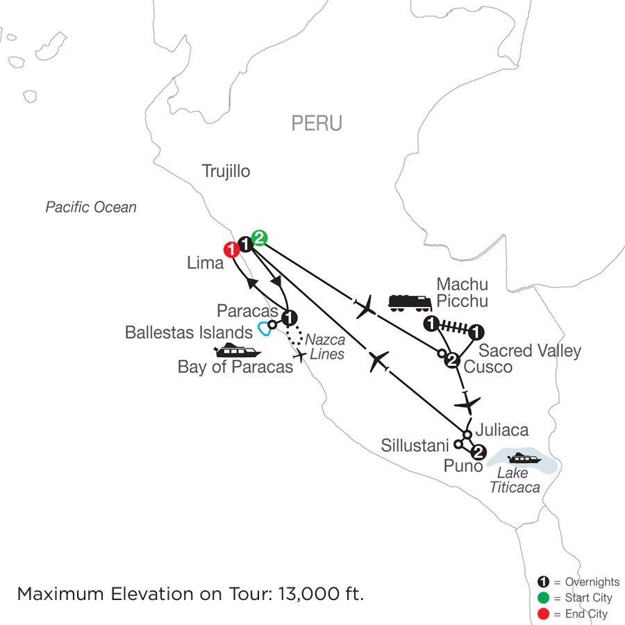 Legacy of the Incas map