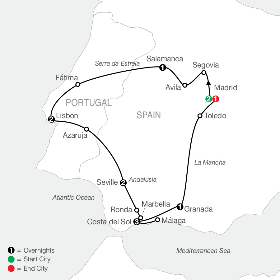 Iberian Discovery & Morocco map