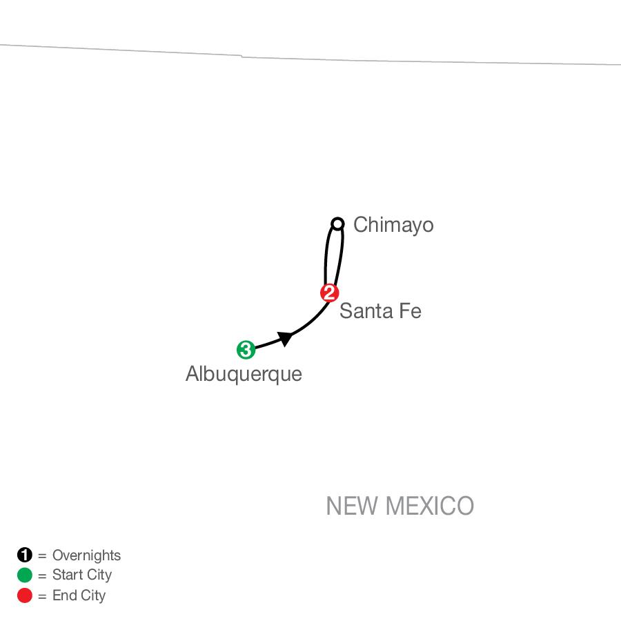 Enchanted New Mexico with Albuquerque Balloon Fiesta map