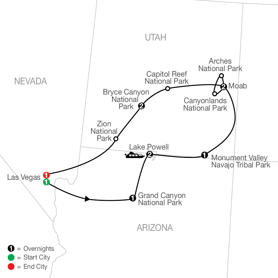 Enchanting Canyonlands map