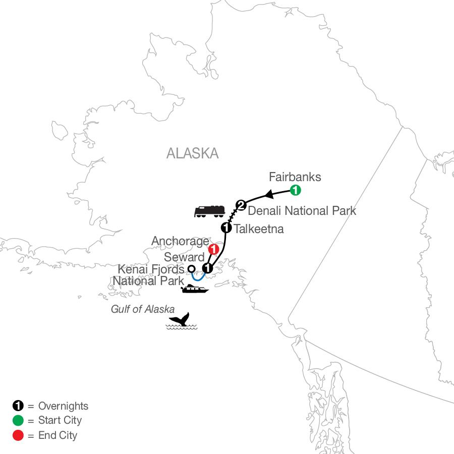 Nature's Best: Alaska map
