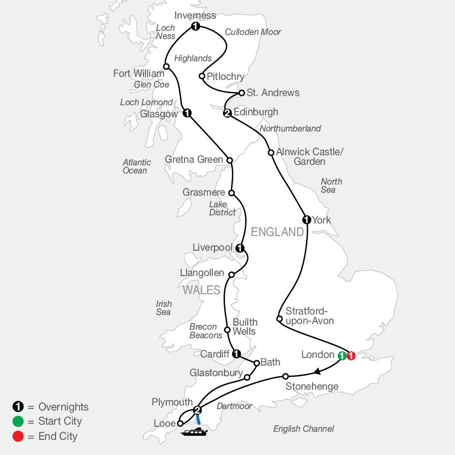 Essential Britain map