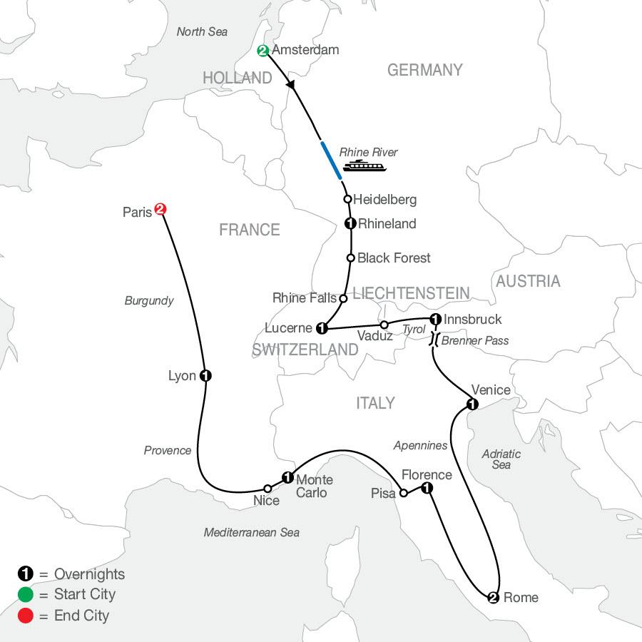 European Tapestry map