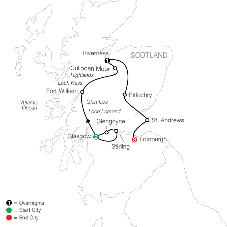 Scottish Escape map