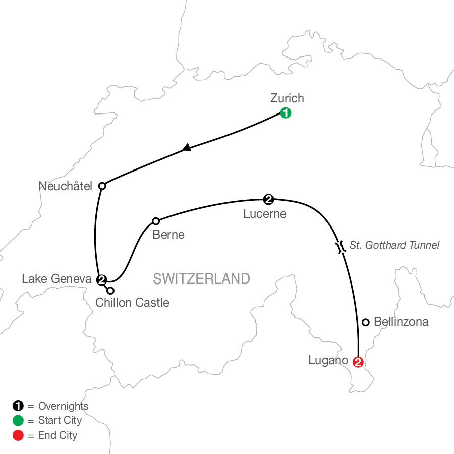 Swiss Escape map