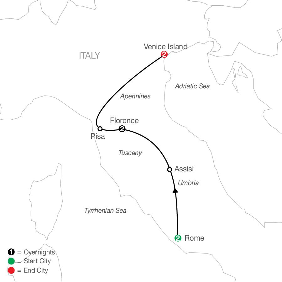 Italian Escape map