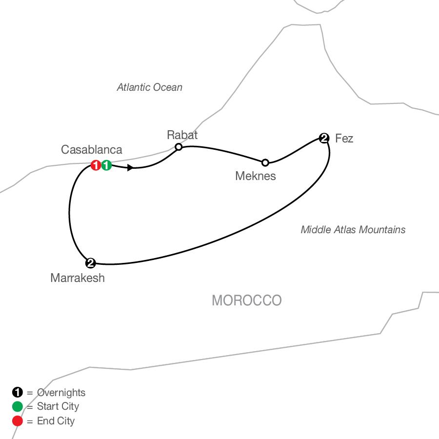 Moroccan Escape map