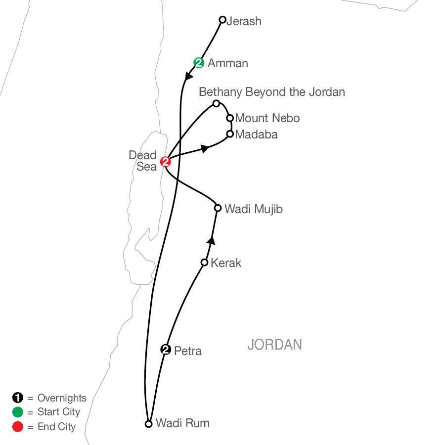 Jordan Escape map