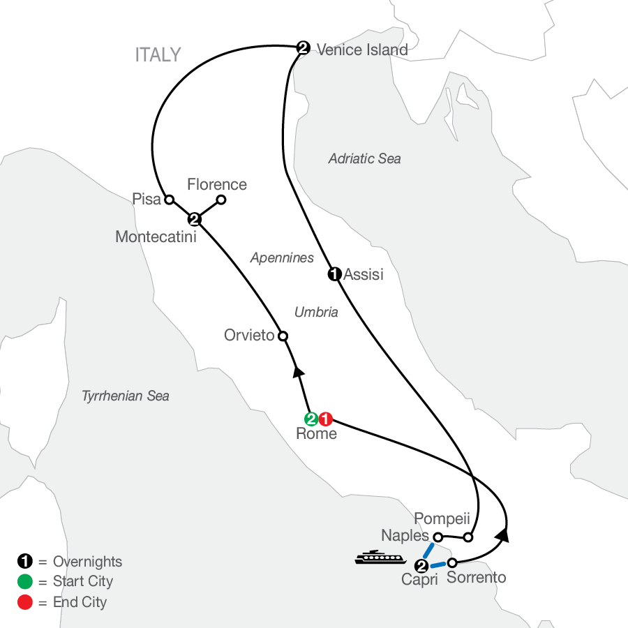 The Best of Italy map