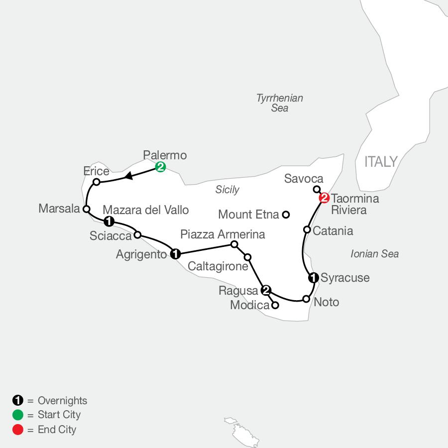 The Sicilian map