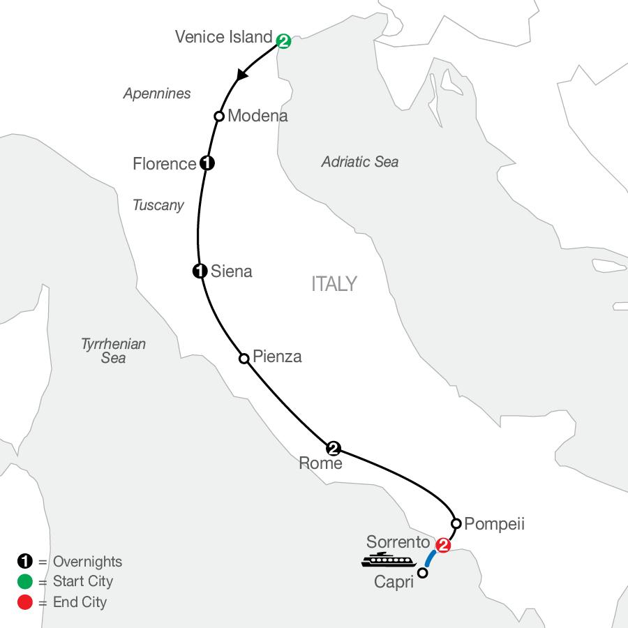 Italian Tapestry map