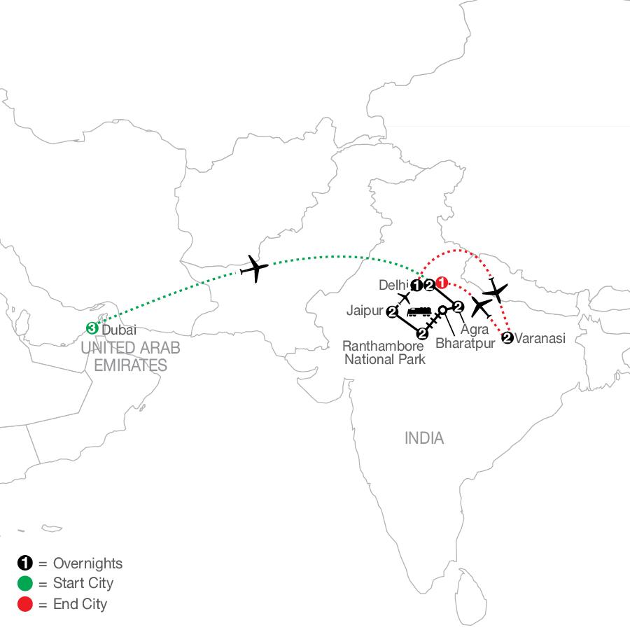 Icons of India: The Taj, Tigers & Beyond with Dubai & Varanasi
