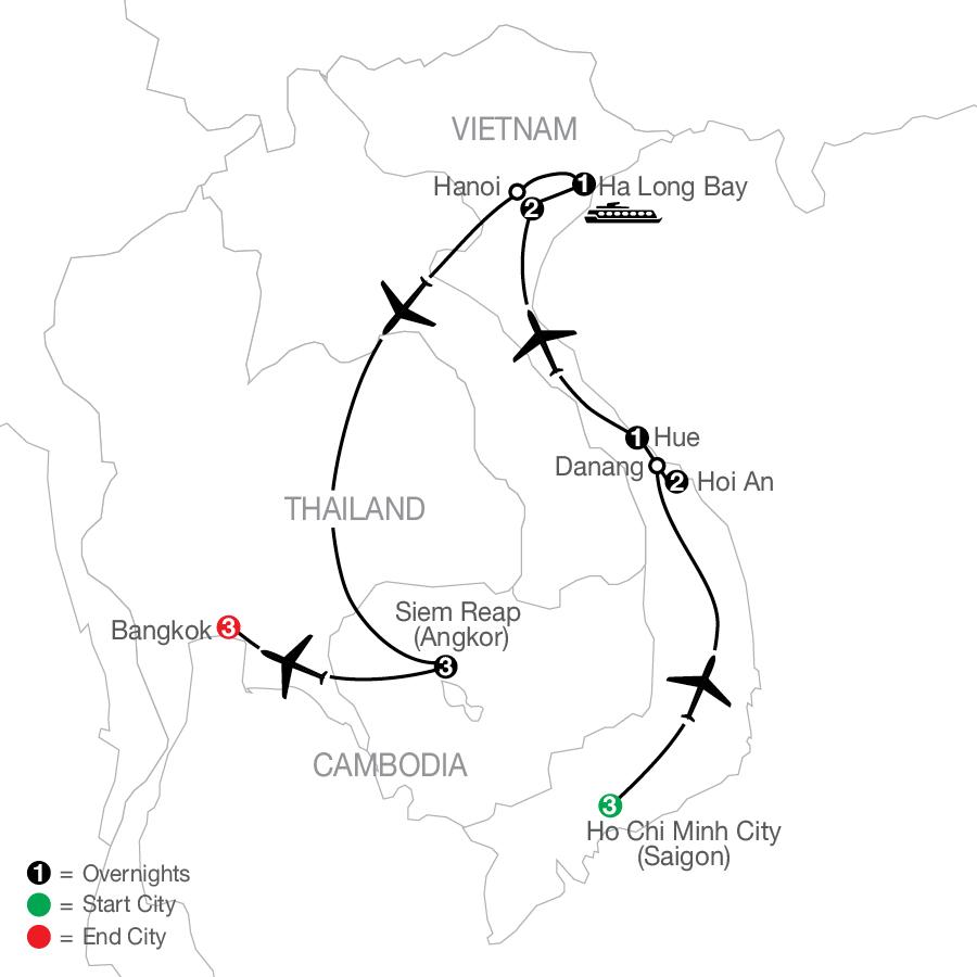 Vietnam & Cambodia: A Grand Adventure with Bangkok