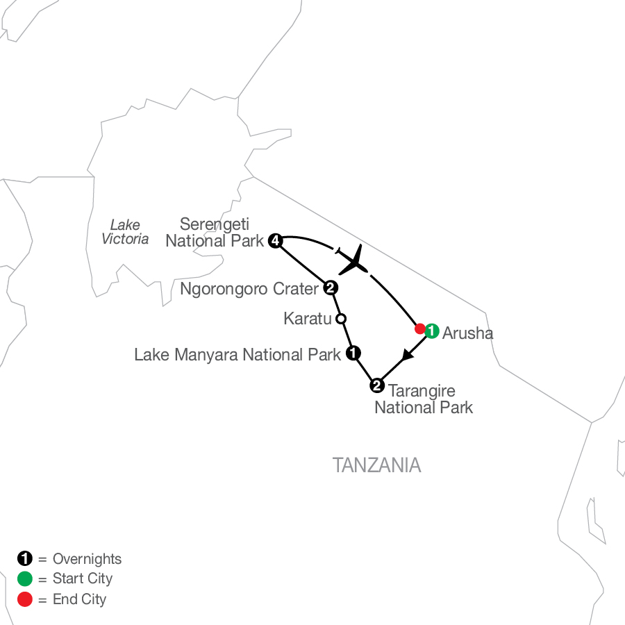 Tanzania: The Serengeti & Beyond with Stay in Serengeti