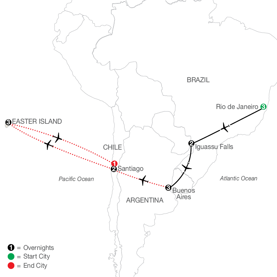 South America Getaway with Santiago & Easter Island