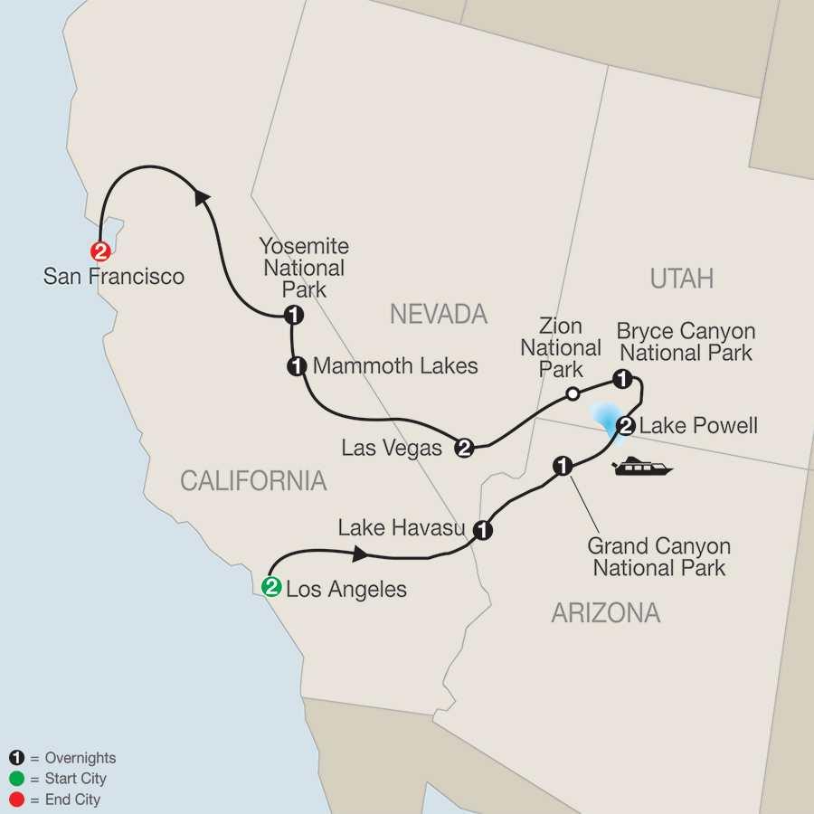 Lake Havasu City Az To Los Angeles To Death Valley